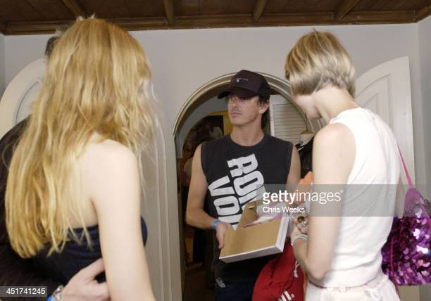 Donovan Leitch Kirsty Hume during Sunset Marquis Oasis Hosts PreMTV Awards with SPIN Magazine Rock the Vote at Sunset Marquis Villas in West...