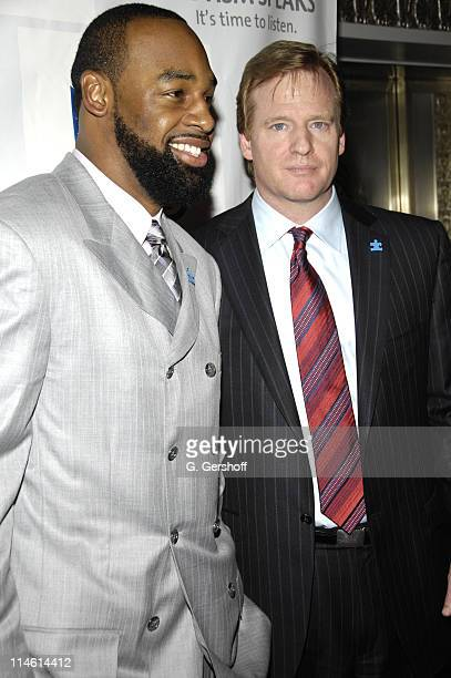 Donovan McNabb and Roger Goodell NFL commissioner