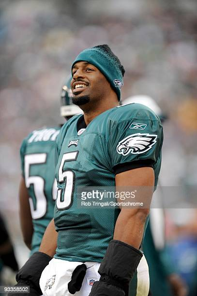 Donovan McNabb of the Philadelphia Eagles looks on against the New York Giants on November 1 2009 at Lincoln Financial Field in Philadelphia...