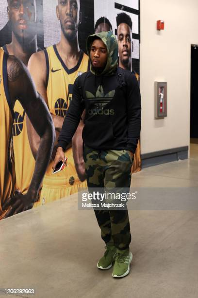 Donovan Mitchell of the Utah Jazz arrives to the game against the Toronto Raptors on March 9 2020 at vivintSmartHome Arena in Salt Lake City Utah...