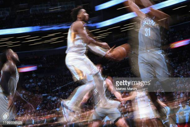 Donovan Mitchell of the Utah Jazz in action against the Brooklyn Nets at Barclays Center on January 14, 2020 in New York City. NOTE TO USER: User...