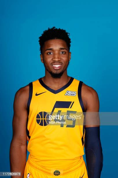 Donovan Mitchell of the Utah Jazz poses for a head shot during media day on September 30, 2019 at vivint.SmartHome Arena in Salt Lake City, Utah....
