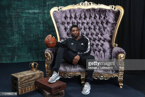Donovan Mitchell of the Utah Jazz poses for portraits during the NBAE Circuit as part of 2019 NBA AllStar Weekend on February 14 2019 at the Sheraton...