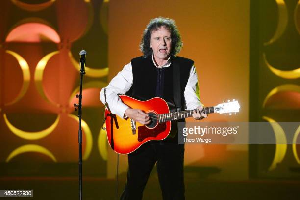 Donovan performs onstage at Songwriters Hall Of Fame 45th Annual Induction And Awards Arrivals at Marriott Marquis Theater on June 12 2014 in New...