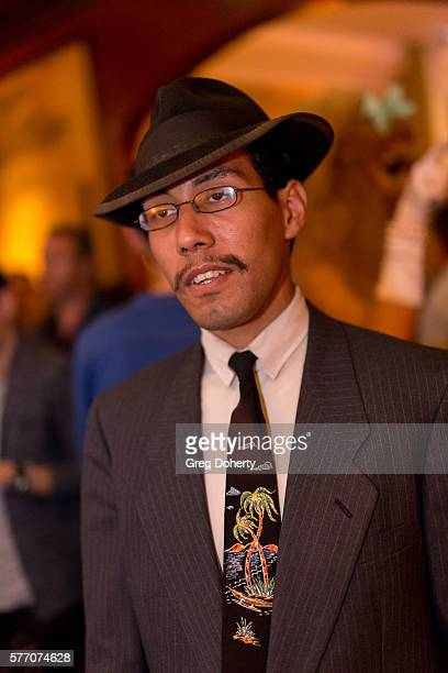 """Donovan Sinohue poses for a picture at the 2016 Outfest Los Angeles Closing Night Gala Of """"Other People"""" After Party at The Theatre at Ace Hotel on..."""