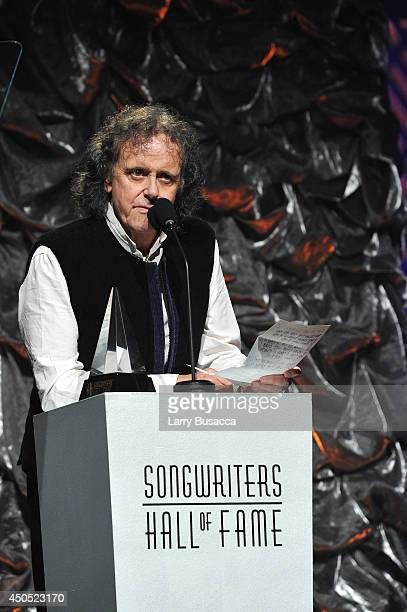 Donovan speaks onstage at Songwriters Hall Of Fame 45th Annual Induction And Awards at Marriott Marquis Theater on June 12 2014 in New York City