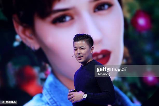 Donovan Sung director of product management and marketing at Xiaomi Corp speaks during the launch of the Mi A1 dual camera device in New Delhi India...