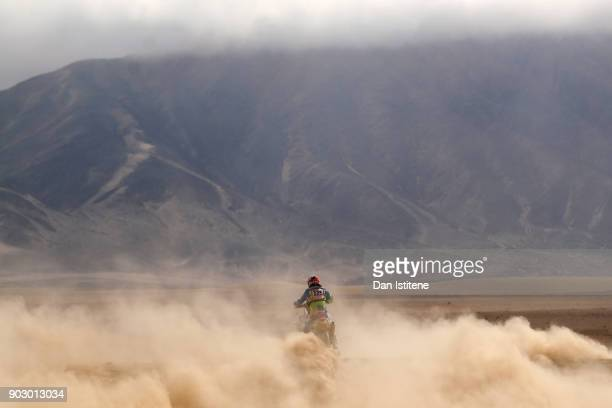 Donovan Van De Langenberg of South Africa and MyDaringAdventure rides a KTM 450 Rally bike in the Classe 22 Marathon during stage four of the 2018...