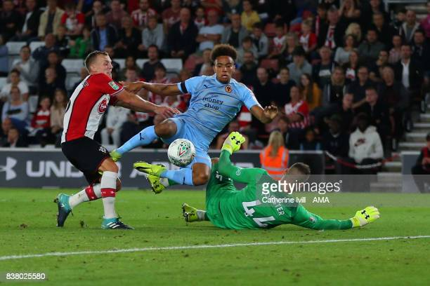Donovan Wilson of Wolverhampton Wanderers scores a goal to make it 0-2 during the Carabao Cup Second Round match between Southampton and...
