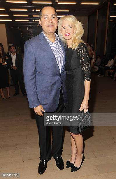 DonPeebles and Katrina Peebles attend the Haute Living Miami Haute 100 Dinner Presented By Dom Perignon And Jade Signature at PAMM Art Museum on...