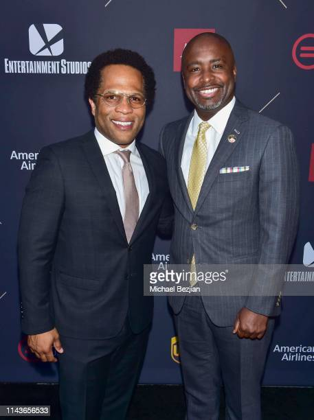 Donray Von and Marqueece HarrisDawson attend Byron Allen Honored by Los Angeles Urban League on April 18 2019 in Hollywood California