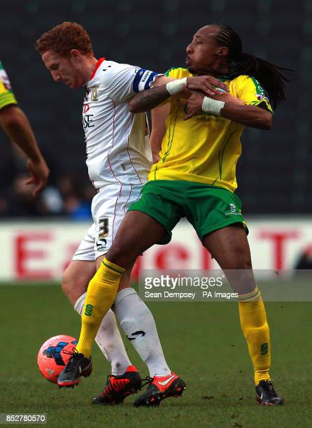 MK Dons Dean Lewington in action during the FA Cup match at the stadiummk Milton Keynes