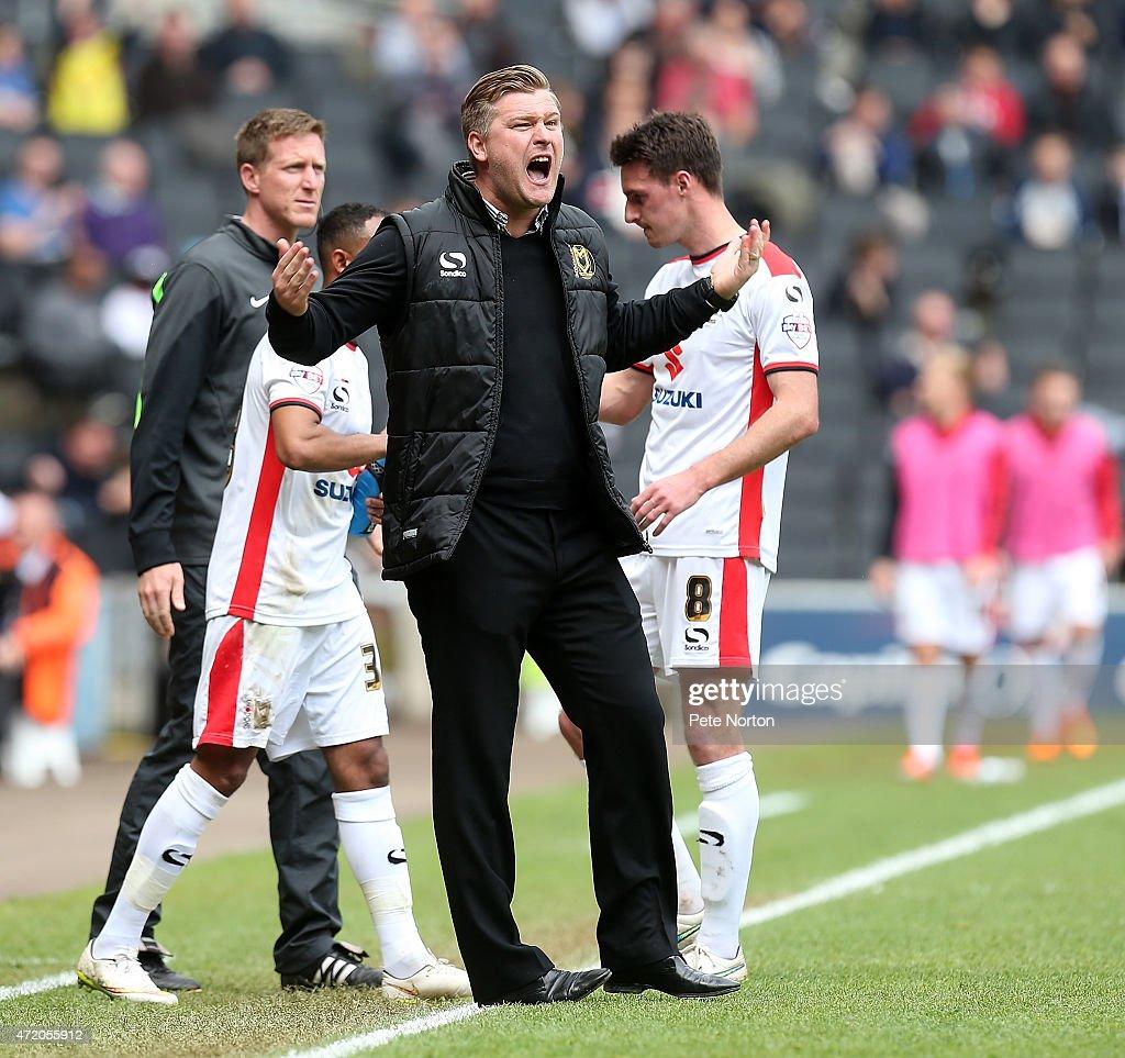 MK Dons v Yeovil Town: Sky Bet League One : News Photo
