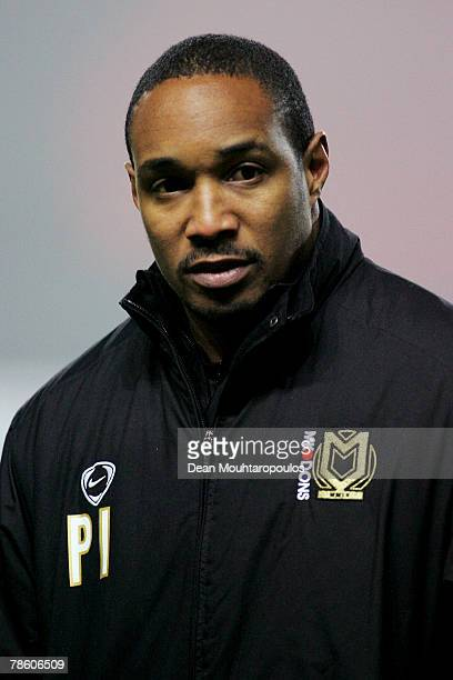 Dons Manager Paul Ince looks on after the CocaCola League Two match between Milton Keynes Dons and Brentford FC at StadiumMk on December 21 2007 in...