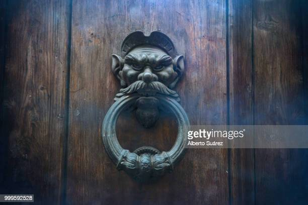 ... don't be afraid - door knocker stock photos and pictures