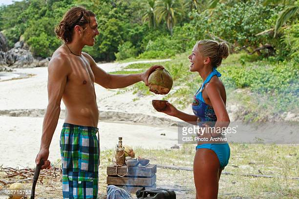 'Don't Be Blinded By The Headlights' Malcolm Freberg and Angie Layton of the Matsing Tribe during the second episode of Survivor Philippines...