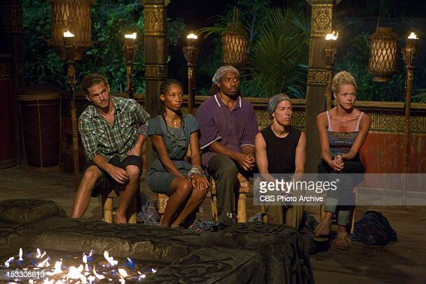 'Don'™t Be Blinded By The Headlights' Malcolm Freberg Roxanne 'Roxy' Morris Russell Swan Denise Stapley and Angie Layton during Tribal Council on the...