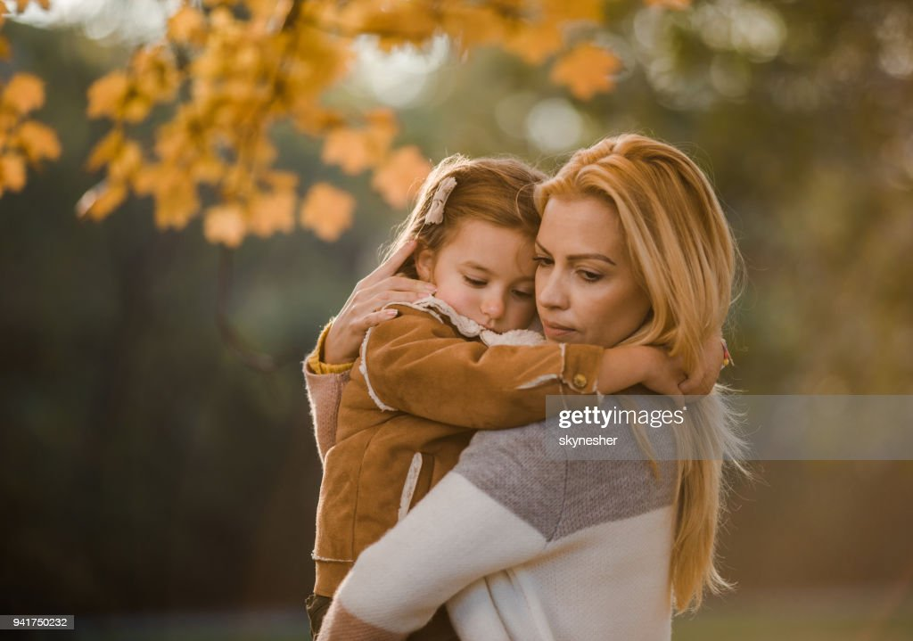 Don't be sad, mommy is here! : Stock Photo