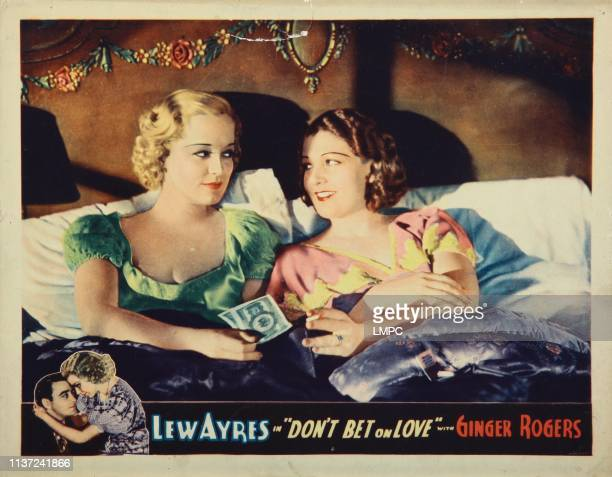 Don't Bet On Love lobbycard from left Shirley Grey Merna Kennedy 1933