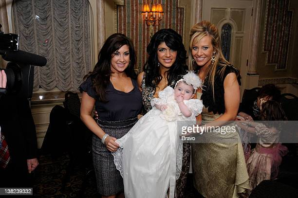 """Don't Drink the Holy Water"""" Episode 213 -- Pictured: Jacqueline Laurita, Teresa Giudice, Audriana Giudice, Dina Manzo"""