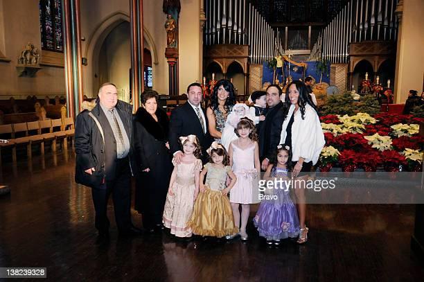 "Don't Drink the Holy Water"" Episode 213 -- Pictured: Teresa's father Giacinto, Teresa's mother, Joe Giudice, Teresa Giudice, Audriana Giudice, family..."