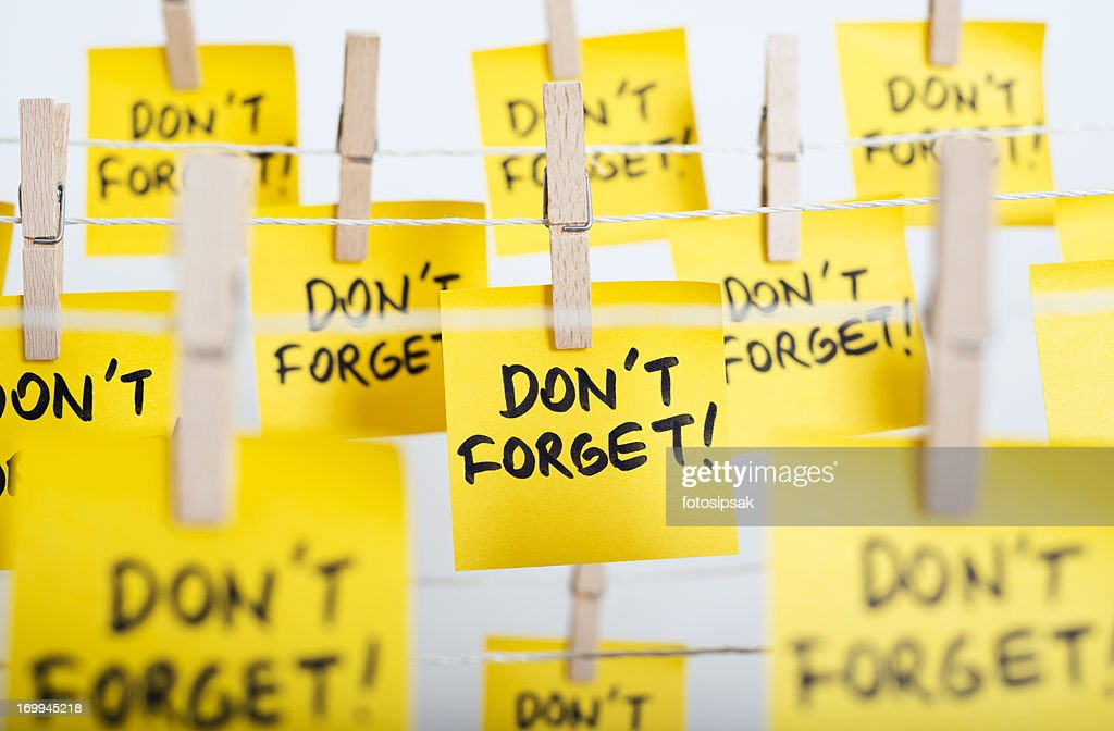 don't forget : Stock Photo