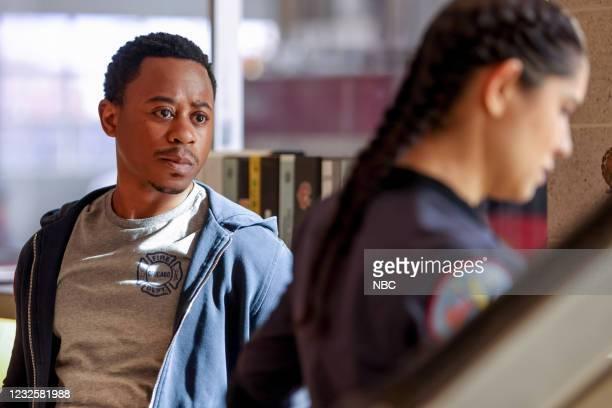"""Don't Hang Up"""" Episode 913 -- Pictured: Daniel Kyri as Darren Ritter, Miranda Rae Mayo as Stella Kidd --"""