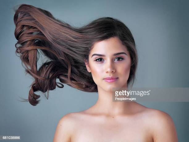 don't hold your breath any longer for good hair! - thick white women stock photos and pictures