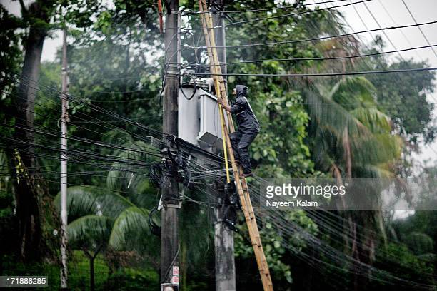 Dont know how many million I'll charge for doing something like that but the possibility is, I'd still avoid it esp. In the rain. The transformer...