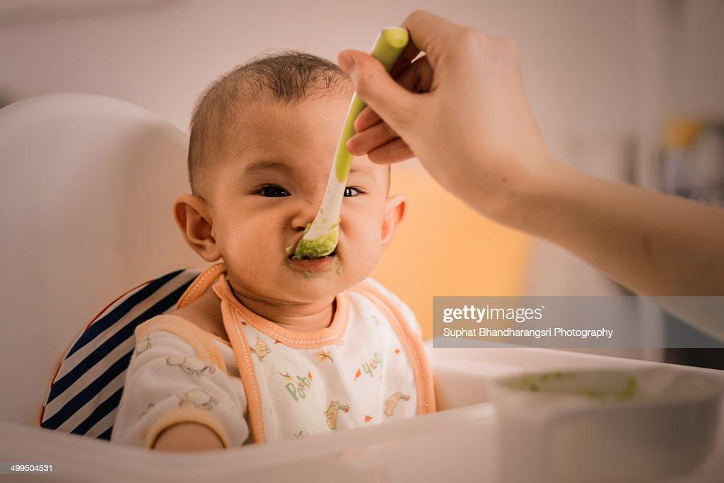 I don't like avocado! : Stock Photo