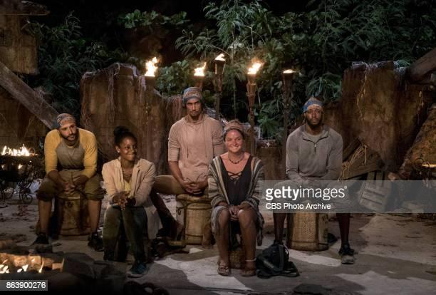 'I Don't Like Having Snakes Around' Joe Mena Desiree Williams Devon Pinto Ashley Nolan and Alan Ball at Tribal Council on the fourth episode of...