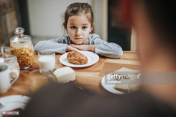i don't like this for breakfast! - refusing stock pictures, royalty-free photos & images