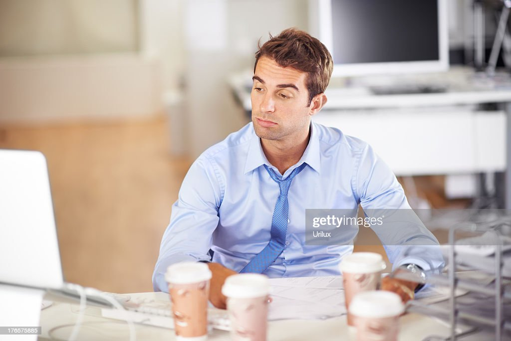 I don't think I can do this anymore! - Overworked : Stock Photo