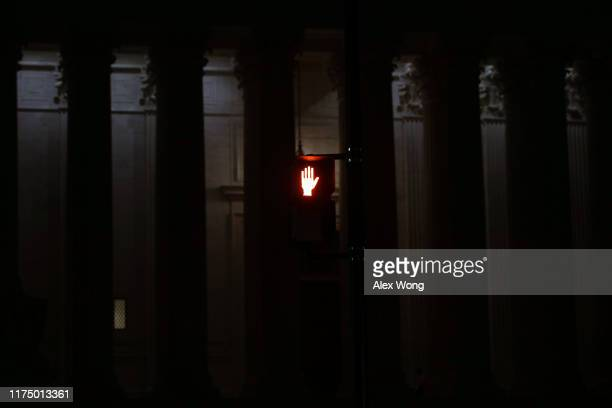 """Don't Walk"""" traffic signal outside the U.S. Supreme Court in the morning hours on September 16, 2019 in Washington, DC. New allegations surfaced from..."""