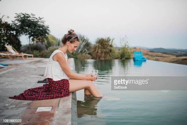 i don't wanna leave - poolside stock pictures, royalty-free photos & images