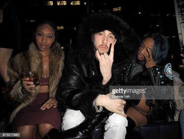 Dontania Guishard Dex Lauper and Brittney Taylor attend Sunset Saturday at PhD Dream Downtown Hotel Rooftop on November 11 2017 in New York City