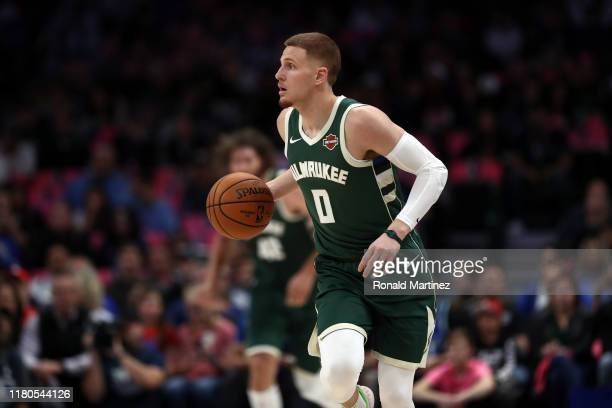 Donte DiVincenzo of the Milwaukee Bucks during a preseason game at American Airlines Center on October 11 2019 in Dallas Texas