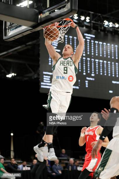 Donte DiVincenzo of the Wisconsin Herd dunks the ball against the Memphis Hustle during the NBA G League Winter Showcase on December 20 2018 at...