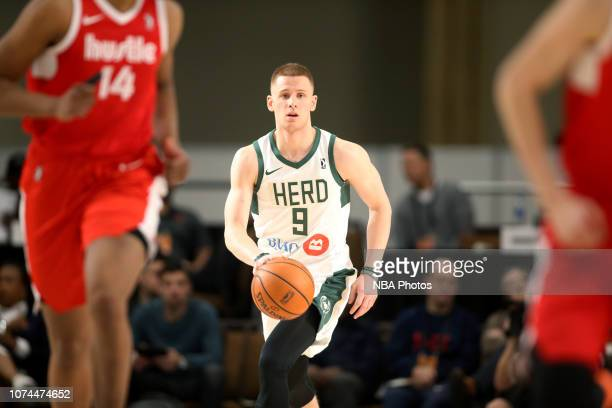 Donte DiVincenzo of the Wisconsin Herd handles the ball against the Memphis Hustle during the NBA G League Winter Showcase on December 20 2018 at...