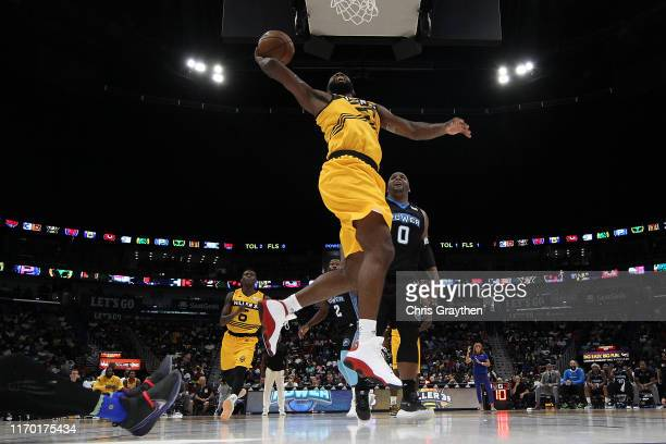 Donte Greene of the Killer 3s dunks the ball during the BIG3 Playoffs at Smoothie King Center on August 25, 2019 in New Orleans, Louisiana.
