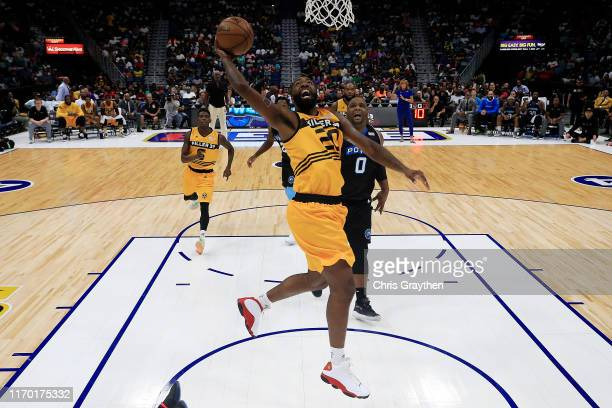 Donte Greene of the Killer 3s makes a layup during the BIG3 Playoffs at Smoothie King Center on August 25, 2019 in New Orleans, Louisiana.