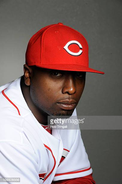 Dontrelle Willis of the Cincinnati Reds poses during the Cincinnati Reds photo day at the Cincinnati Reds Spring Training Complex on February 20 2011...