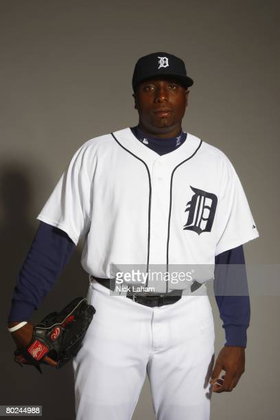 Dontrelle Willis of the Detroit Tigers poses for a portrait during Photo Day on February 23 2008 at Joker Marchant Stadium in Lakeland Florida