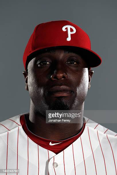 Dontrelle Willis of the Philadelphia Philles poses for a portrait at the Bright House Field on March 1 2012 in Clearwater Florida