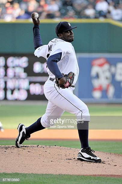 Dontrelle Willis starting pitcher of the Detroit Tigers