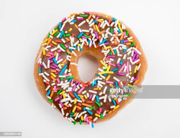 Donut on white