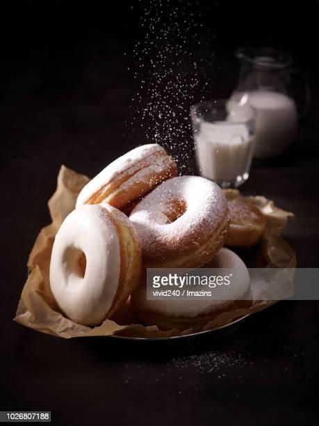 Donuts, Dessert, Milk