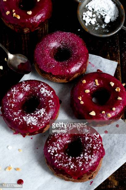 donuts - carolafink stock photos and pictures