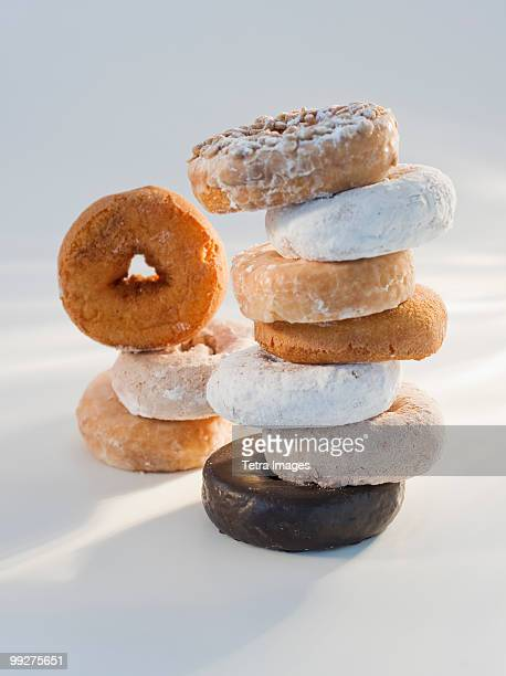 donuts - sugar pile stock pictures, royalty-free photos & images