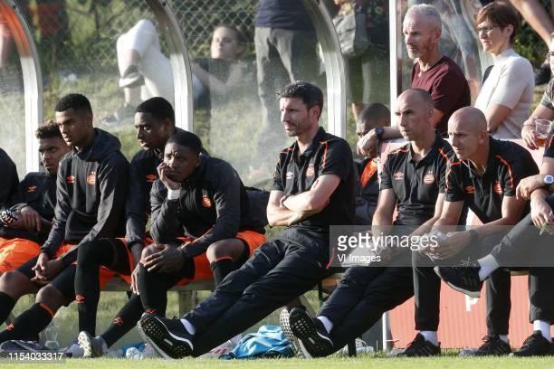 , Donyell Malen of PSV, Cody Gakpo of PSV, Pablo Rosario of PSV, Steven Bergwijn of PSV, Coach Mark van Bommel of PSV, Assistant trainer Jurgen Dirkx...